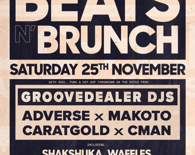 BEATS N' BRUNCH @ SINCE I LEFT YOU [DJs CMAN, MAKOTO, ADVERSE, CARATGOLD] – SAT.25.NOV