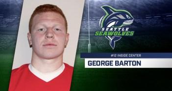 Seattle Seawolves Sign George Barton
