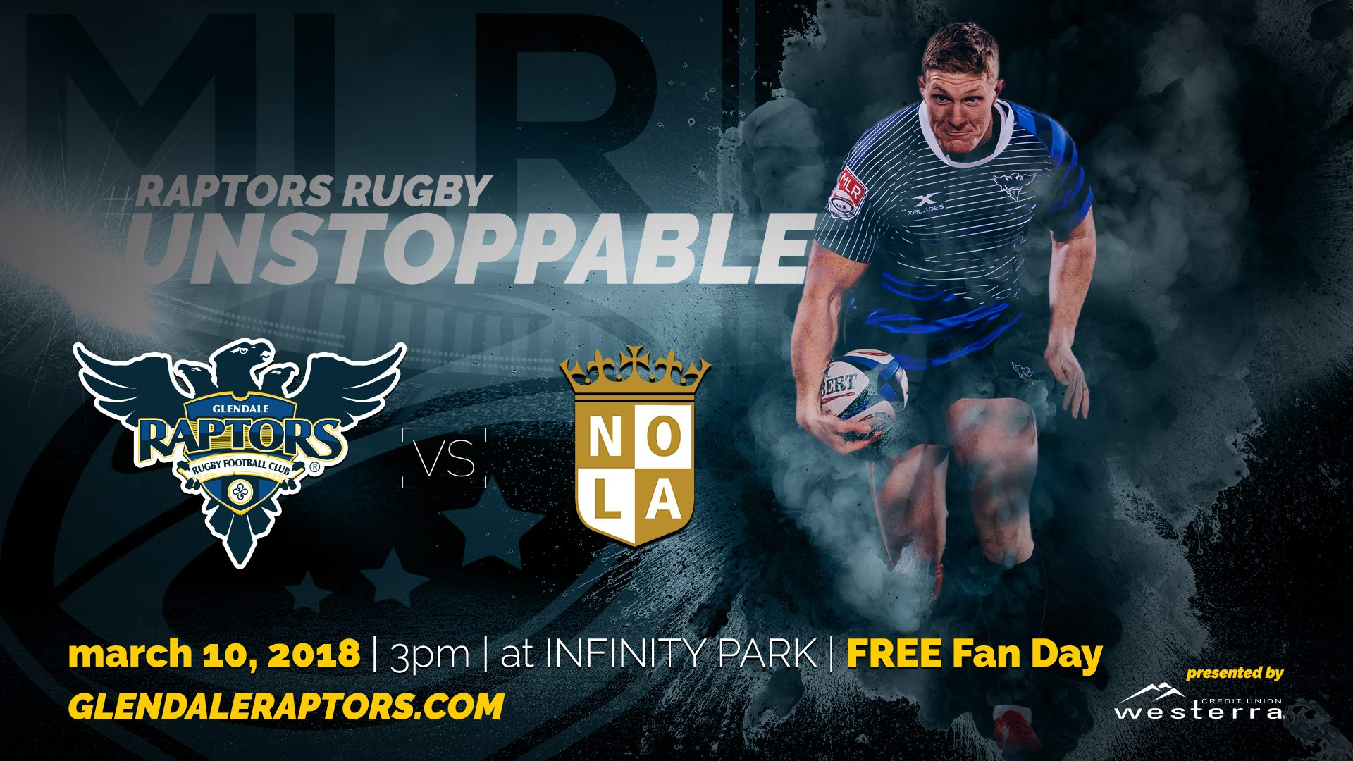 827fe70857e Glendale Raptors host New Orleans Gold Rugby in MLR exhibition contest.