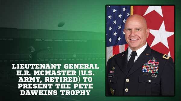 U.S. Army Lieutenant General H.R. McMaster to Present Pete Dawkins Trophy at 2018 Penn Mutual Collegiate Rugby Championship