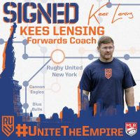 Rugby United New York Signs Kees Lensing as Forwards Coach