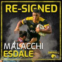 Houston SaberCats Re-Sign Malacchi Esdale