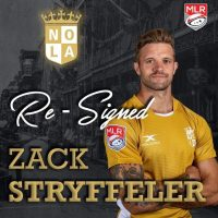 New Orleans Gold Rugby Re-Signs Zack Stryffeler