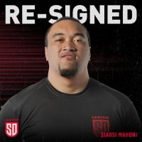 San Diego Legion Re-Signs Siaosi Mahoni