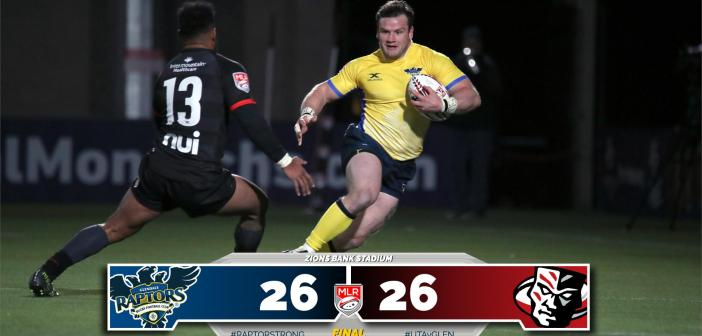 Glendale Raptors Comeback to Tie Utah Warriors