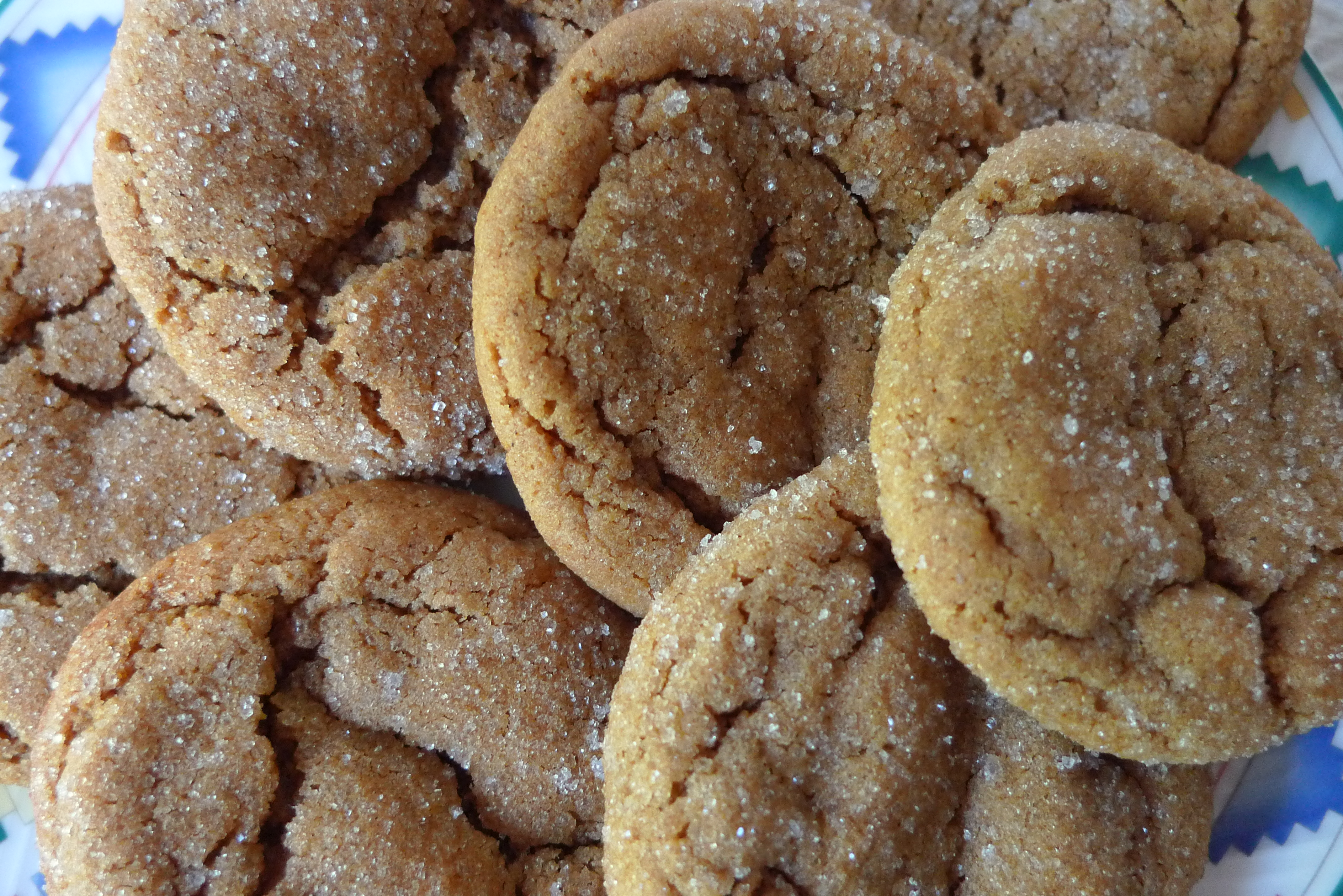 plated ginger cookies