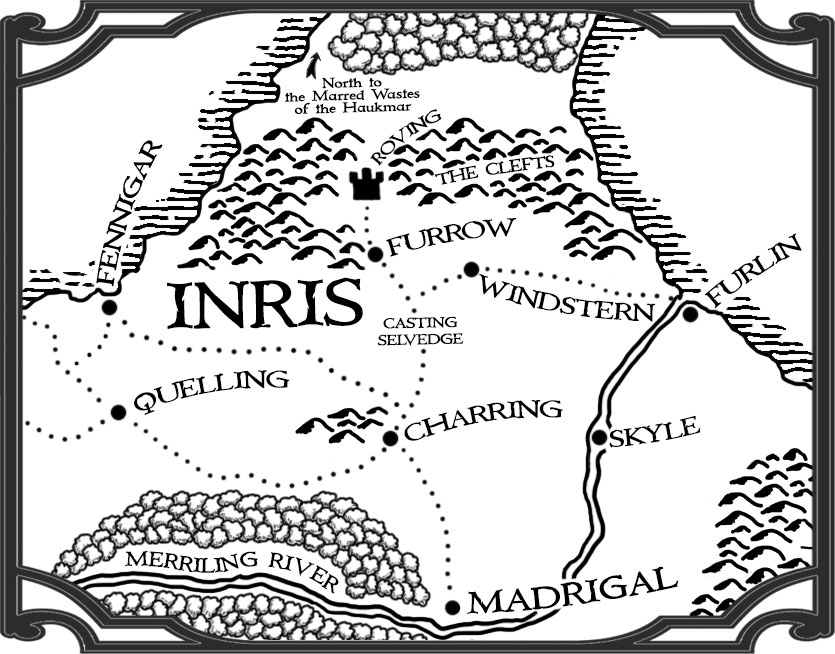Map of Inris, from the fantasy world of Kiln