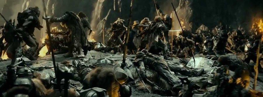 battle scene middle earth