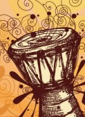 African djembe drumming for dance