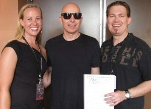 My wife and I meeting Joe Satriani in 2013
