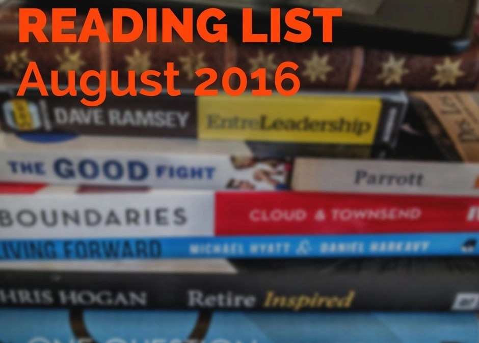 Reading List – August 2016