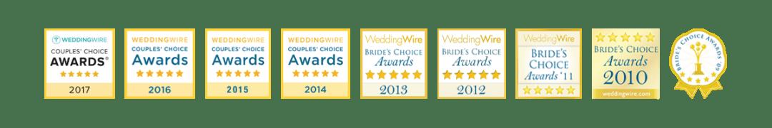 Wedding Wire Badges for DJ Frank Young 2009 - 2017 Affordable Bilingual Wedding DJ Dallas-Forth Worth English Spanish