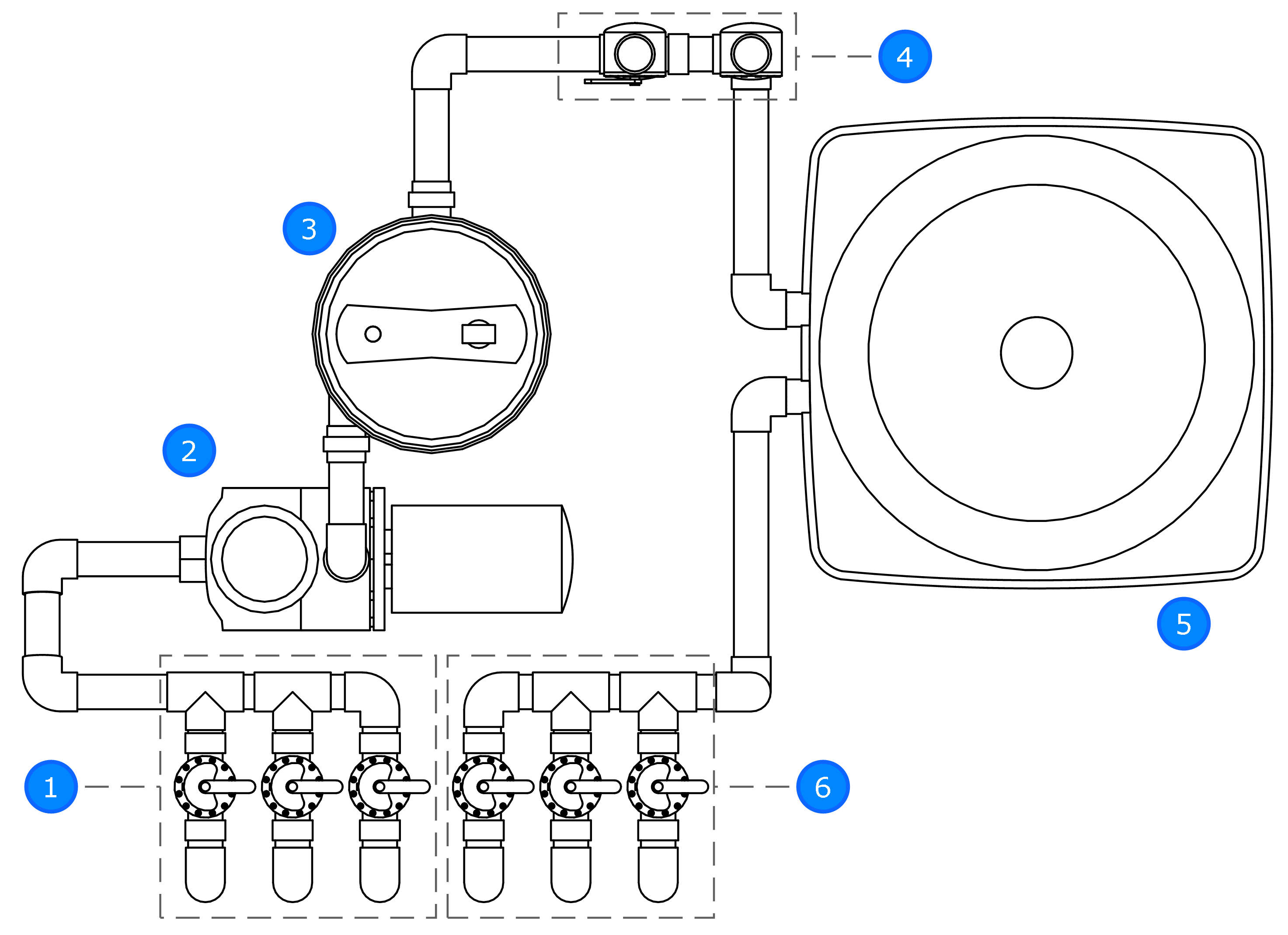 Pool Valves Diagram
