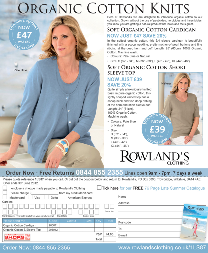 Rowland's, off the page advertising