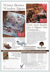 Wenworth Puzzles Off the page advertisement, Creative Advertisement, Off the Page