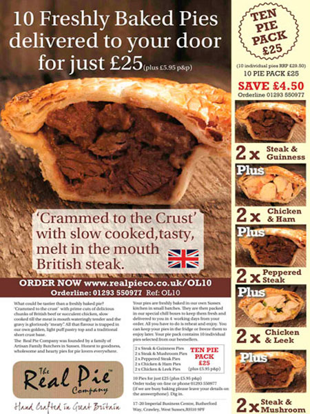 Real Pie Off the Page Advertisement