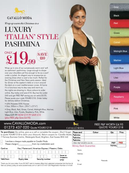 DJH Cavallo pashmina Advertisement