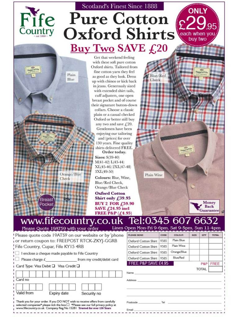 Fife Country Dundas Shirt Off the Page Ad