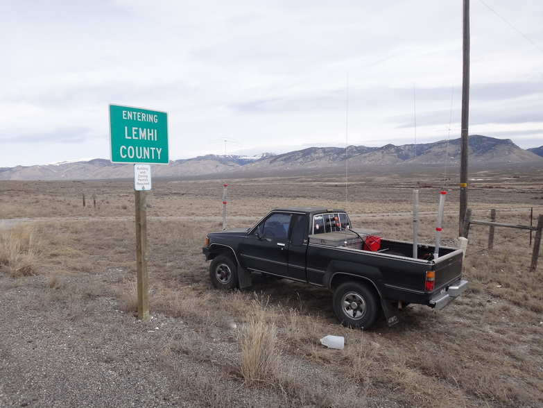 On the Lemhi--Clark county line at the start of the IDQP