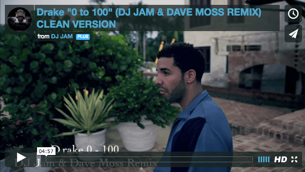 """NEW VIDEO"" Drake 0 to 100 (DJ Jam & Dave Moss Remix) - Watch Now!!! Edited by Rashaud Thomas"