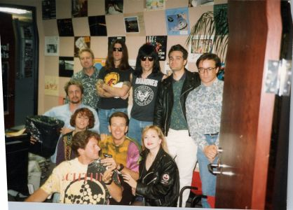 The Ramones with Jed The Fish and the KROQ staff in 1994