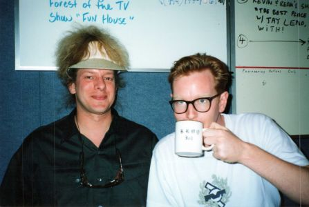 Andy Fletcher of Depeche Mode sips tea with Jed The Fish