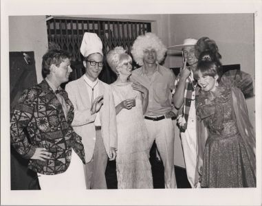 Backstage with The B-52's at The Greek Theater, cir. 1983