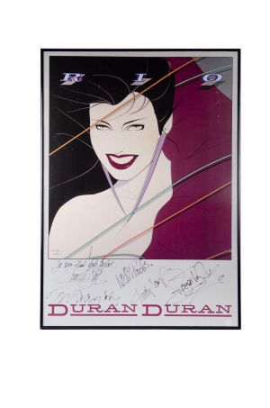 Jed The Fish's signed Duran Duran Patrick Nagel poster