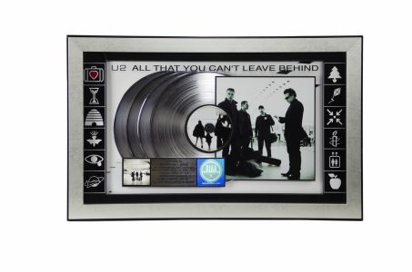 Jed The Fish U2 platinum award from Interscope Records