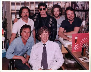 Lou Reed, Rick Carrol, Scott Mason and Jed The Fish at KROQ