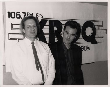 Morrissey and Jed The Fish at KROQ