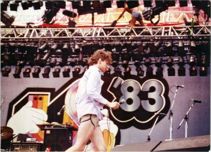 Jed The Fish Us Festival onstage announcement 1983