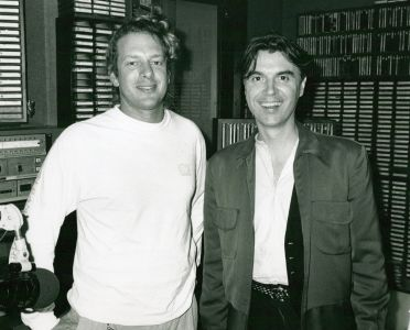 David Byrne with Jed The Fish in November 1989