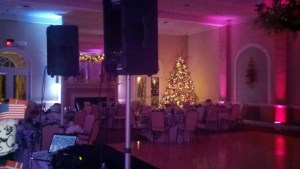 Uplights and the Christmas Tree