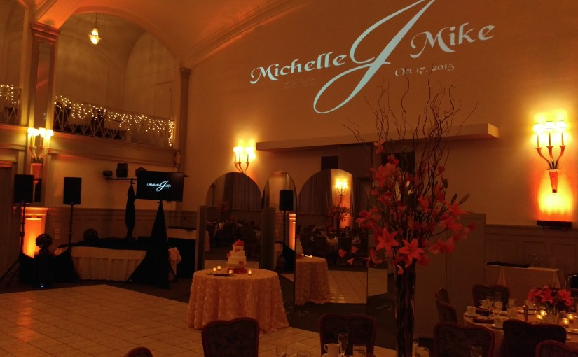 Monogram & Slide Show at the Binghamton Club w/ Mobile Wedding DJ Johnny Only