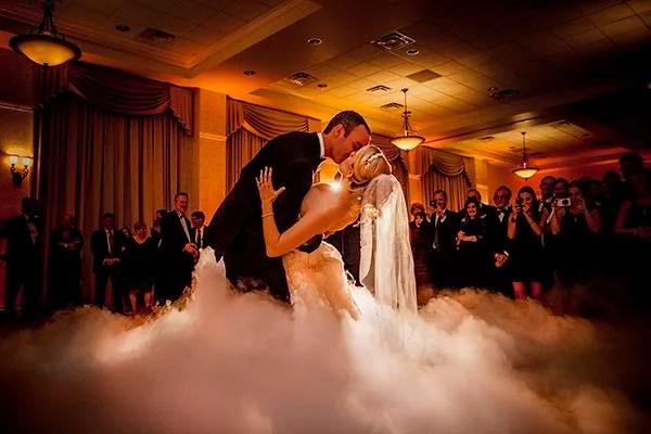 wedding first dance on a cloud
