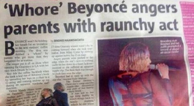 Beyoncé's Grammy Performance Spawns Disrespectful Headline From UK Publication