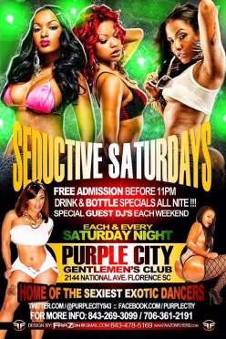 This Saturday Purple City #Florence, SC Sedutive Saturday