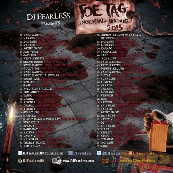 DJ FearLess - Toe Tag Mixtape - Back
