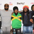 L - R Morgan Heritage's Lukes, Gramps and Peetah Morgan, Jemere Morgan at Press Conference in Kampala