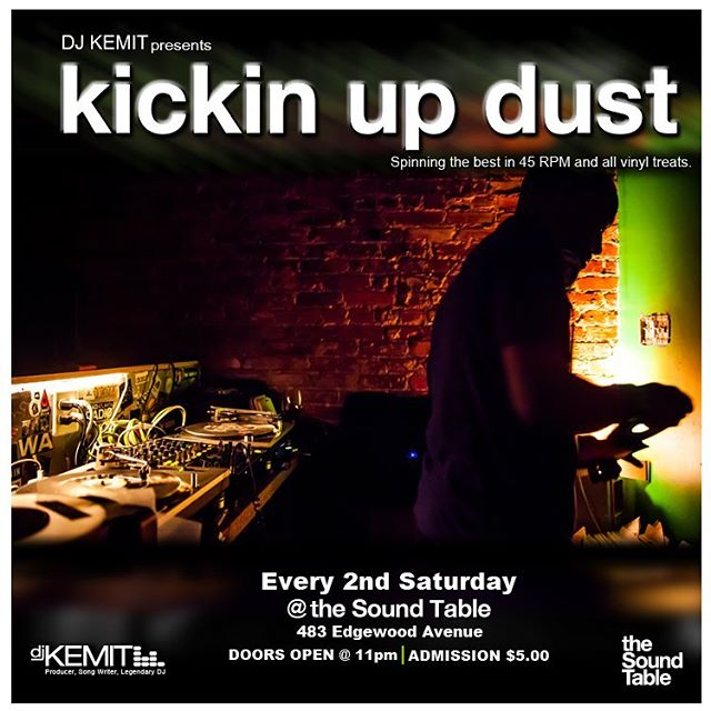 ATL TONIGHT KickinUpDust the AllVinyl 45RPM NoLaptopNeeded Throw Down Saturday Oct. 8th 11pm @thesoundtable - With the untimely passing of Kashif & RodTemperton we will be leaning heavy on the 80sBoogie sound with flashes of our regular music menu = RareGrooves ClassicRock HouseClassics Soul Breaks HipHopClassics Funk & more!