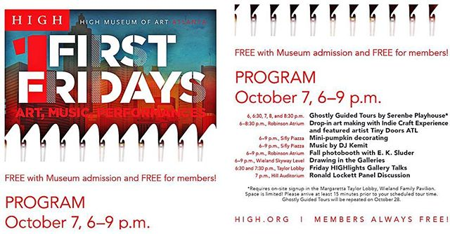 Join me tomorrow Friday Oct. 7th for FirstFridays 6-9pm @highmuseumofart Art Music Performances - I will be blending music for the Soul!