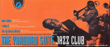 Yardbird Suite Jazz Club flier late 90s