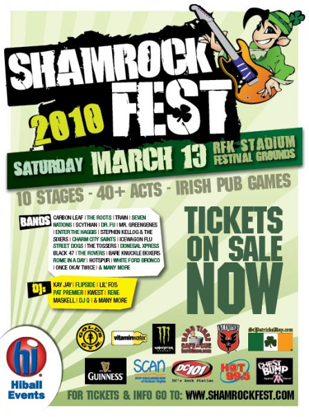 Shamrockfest 2010 at RFK Stadium in Washington DC hosted by Hiball events