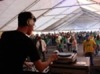DJ Mark Maskell performing live on the turntables at Shamrockfest 2007 at RFK Stadium
