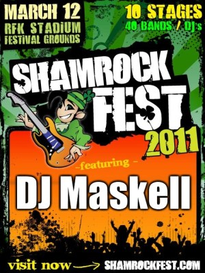dj maskell shamrockfest 2011 RFK Stadium Washington DC