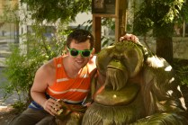 Me with the Orangutan sculpture.
