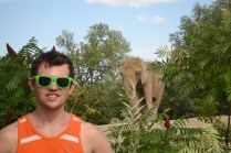Myself and an African elephant.