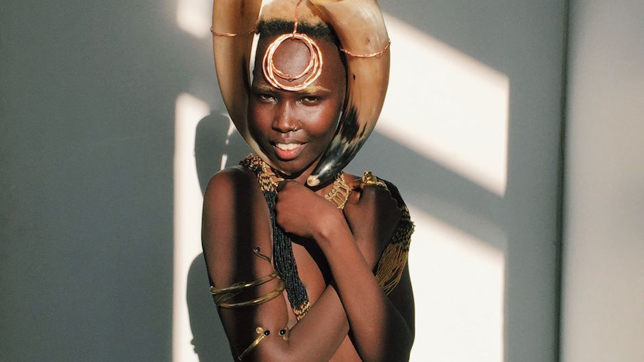 mannequins sud-soudanaise stand4Education Mari Malek Djolo
