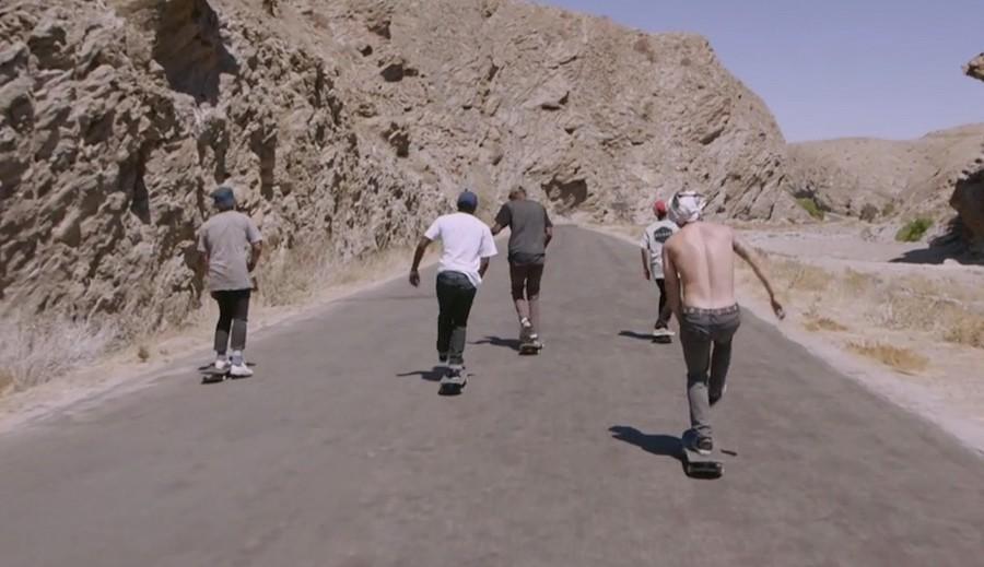 Aux confins du desert avec la team Adidas de skateboard Namibie 2015 Djolo